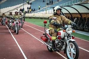 آماده باش ۵۵ آتش نشان  برای  تامین ایمنی بازی پرسپولیس -کاشیما