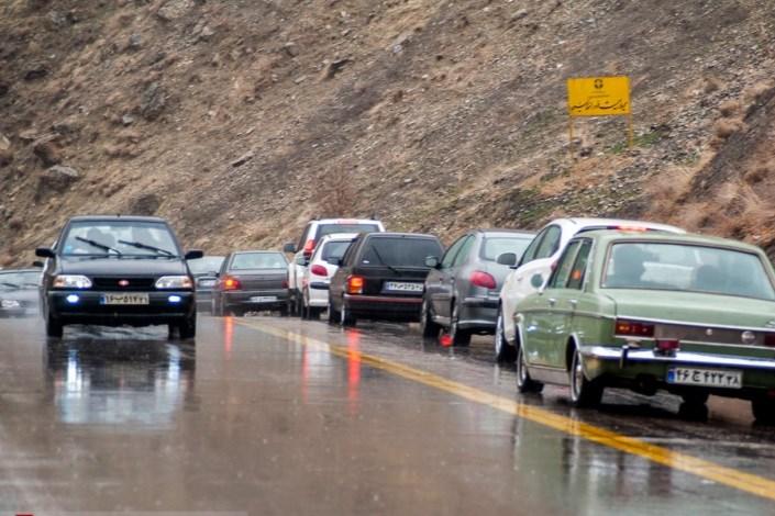 باران در جاده ها