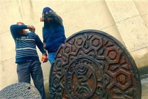 دستگیری مالخرهای دریچههای چدنی آب و برق و مخابرات + عکس