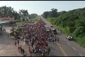 رسیدن مهاجران آمریکای مرکزی به مرز مکزیک و آمریکا