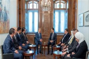 دیدار رئیس جمهور سوریه با هیات عالی رتبه اردنی