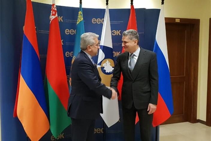 وزیر نیرو با دبیرکل اتحادیه اقتصادی اوراسیا