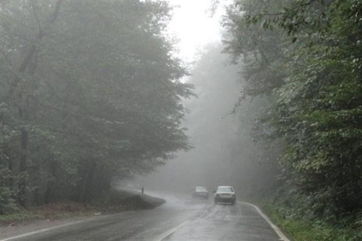 باران و مه گرفتگی