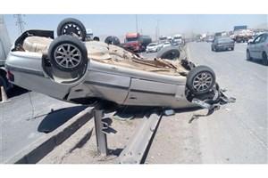 واژگونی مرگبار پژو پارس یک کشته و دو مجروح برجای گذاشت