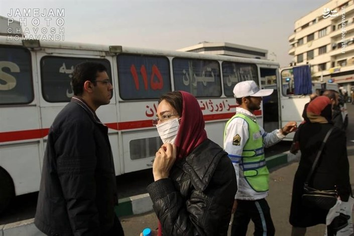 استقرارآمبولانس در هوای آلوده تهران