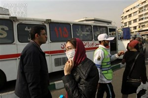 استقرارآمبولانس های اورژانس درتهران و شهر ری به دلیل وضعیت بحرانی آلودگی هوای امروز