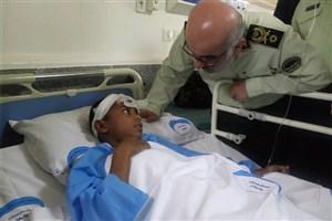 پیگیری نیروی انتظامی برای مداوای کامل مجروحان  حادثه چابهار