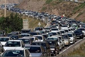 ترافیک در جاده چالوس و هراز/ جاده های سمنان و  کهکیلویه  بارانی است