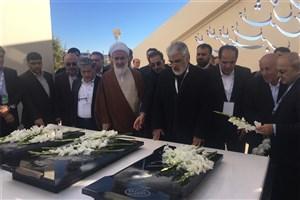 ادای احترام دکتر طهرانچی به شهدای گمنام واحد قزوین