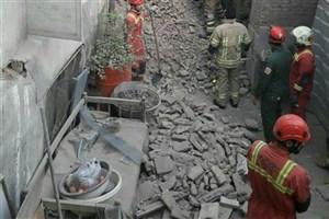 ریزش آوار ساختمان قدیمی در بازار تهران/حادثه  تلفات جانی نداشت