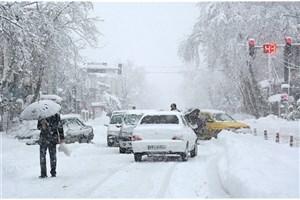 تداوم بارش برف و باران و کولاک در جاده ها/رانندگان زنجیر چرخ ببندند