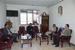 دیدار هیئت رئیسه دانشگاه آزاد اسلامی واحد بوکان با رئیس اداره اوقاف شهرستان