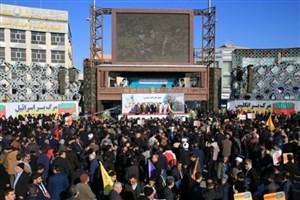 مراسم بزرگداشت سالروز حماسه ۹ دی در تهران آغاز شد