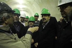 بازدید معاون شهردار تهران از روند اجرای طرح تونل و بزرگراه شهید شوشتری