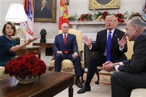 جلسه بدون نتیجه ترامپ و نمایندگان حزب دمکرات