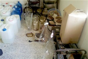 ۶ کیلو شیشه از آشپزخانهای در جنوب تهران کشف شد