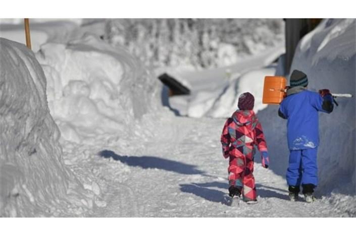 برف و کولاک در اروپا