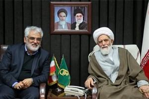 رئیس دانشگاه آزاد اسلامی با آیت الله غیاث الدین طه محمدی دیدار کرد