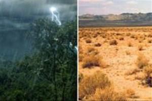 وجود جنگلها و بیابانها و تاثیر مستقیم آن در میزان بارندگی