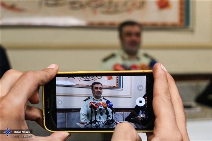 گفت و گوی سردار اشتری با خبرنگاران در حاشیه همایش فرماندهان ناجا