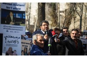 تجمع اعتراضی علیه بازداشت غیرقانونی مرضیه هاشمی برگزار شد