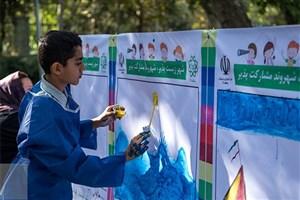 اجرای طرح نقاشی دیواری با مشارکت دانش آموزان در بوستان ها