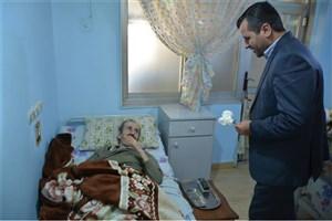 بازدید دانشگاهیان دانشگاه آزاد اسلامی واحد بندرانزلی از سرای سالمندان