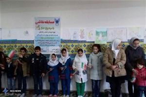 مسابقه نقاشی با موضوع نماز در واحد شاهین دژ