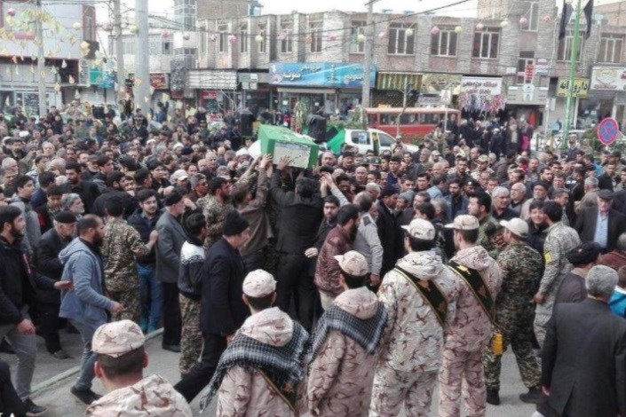 تشییع شهید مدافع حرم حسین نظری