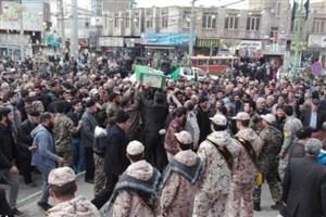 تشییع  پیکر شهید مدافع حرم حسین نظری  در قرچک