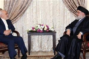 ظریف با سیدحسن نصرالله دیدار کرد