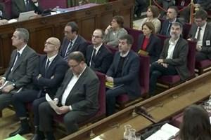 دادگاه جدایی طلبان کاتالونیا آغاز شد