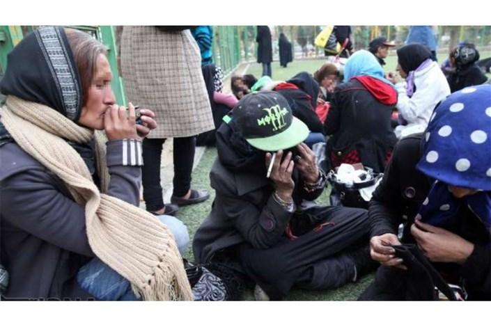 جمع آوری معتادان  زن