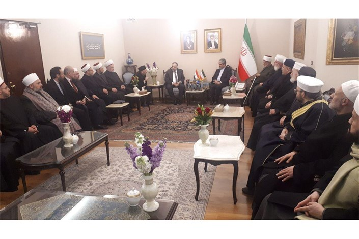 وزیر اوقاف و علمای مذهبی سوریه در سفارت جمهوری اسلامی ایران