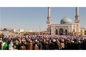حضور گسترده مردم در تشییع پیکر آیت الله مومن