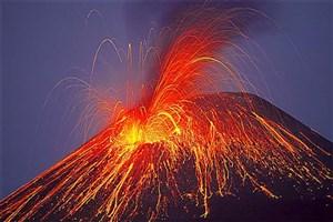 آتش فشانی که یک میلیون سال فعالیت کرد