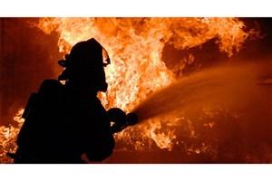 آتش سوزی در کوره ذوب شیشه یک کارخانه تولیدی