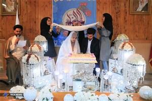 جشن ازدواج 60 دانشجو در دانشگاه آزاد اسلامی همدان برگزار شد
