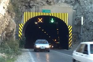 ترافیک در دهانه شمالی تونل کندوان/ جاده های کرمانشاه و خراسان رضوی بارانی است