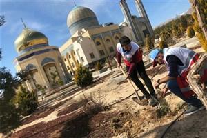 تعداد 20 اصله نهال در دانشگاه آزاد اسلامی شاهرود غرس شد