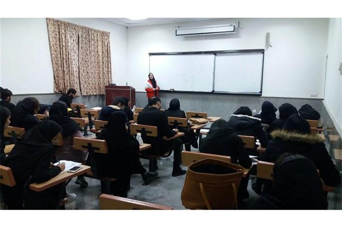 دوره آموزشی کمک های اولیه در دانشگاه آزاد اسلامی واحد شاهرود