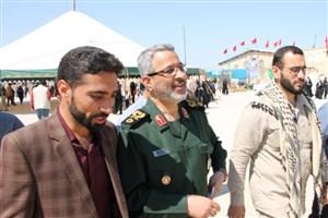 حضور سردار غیب پرور ریاست سازمان بسیج مستضفین در زیارتگاه شهدای هویزه