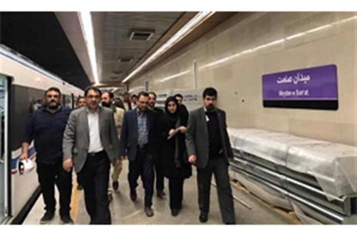 تست گرم در خط ۷ متروی تهران