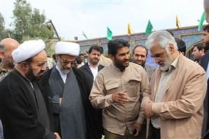 حضور دکتر طهرانچی و آیت الله سعدی  در زیارتگاه شهدای هویزه