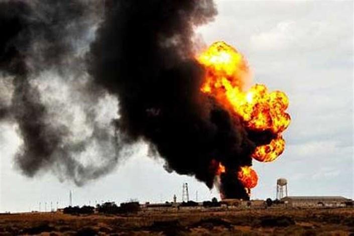 آتش سوزی خط لوله گاز