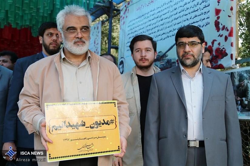 بازدید دکتر طهرانچی از مناطق راهیان نور
