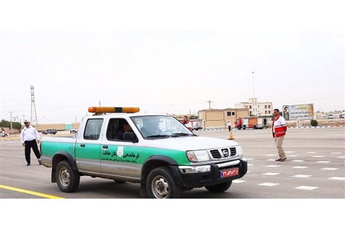 مانور بزرگ هماهنگی دستگاههای عضو ستاد خدمات اجرایی سفر خوزستان