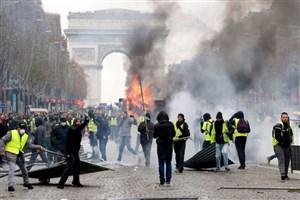 برخورد پلیس با تظاهرکنندگان جلیقه زرد