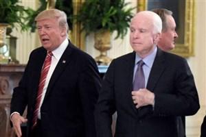انتقاد رئیس جمهور آمریکا از سناتور مک کین
