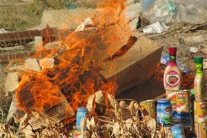 200 هزار کیلو مواد غذایی و آشامیدنی غیر بهداشتی معدوم شد
